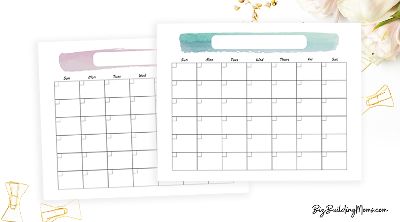 waterproof printable calendar
