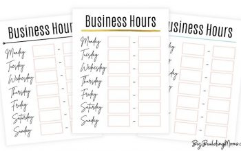 Free Printable Business Hours Sign For The Window