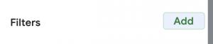 Pivot Table Google Sheets screen shot of adding a filter